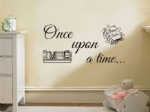 "Wall Quote ""Once Upon A Time"" Wall Art Sticker, Vinyl Decal, Modern Transfer."